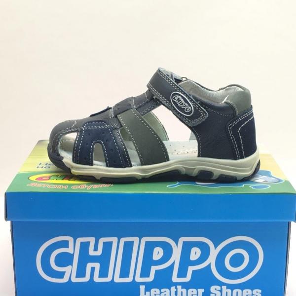 fdd1ffbd173 Детски сандали Chippo естествена кожа синьо/сив 26/31 с цена от 33.60лв -  Sravni.bg